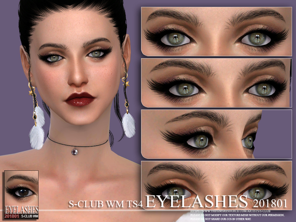 S-Club WM ts4 eyelashes 201801