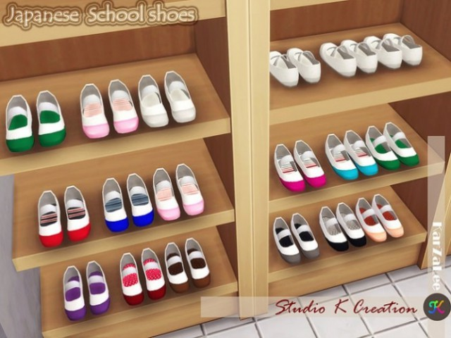 Japanese School Shoes decor by Studio K Creation