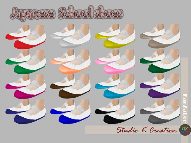 Japanese School Shoes by Studio K Creation