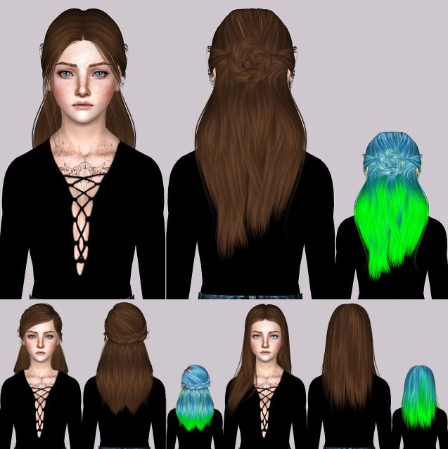 LeahLillith Renaissance & Cold Nature,TSMinhSims Heaven Hair Chop by lies-and-crooked-sims