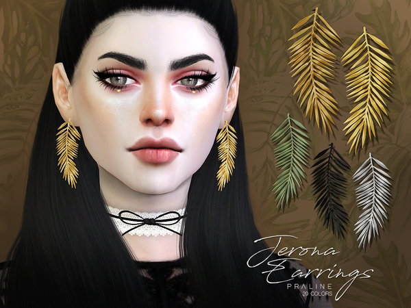 Jerona Earrings by Pralinesims