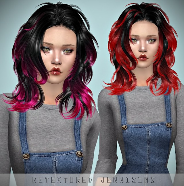Newsea WindyCity Hair retexture by JenniSims