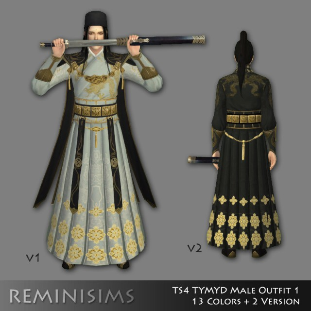 TYMYD (Moonlight Blade) to TS4 Male Outfit 1 by Reminisims