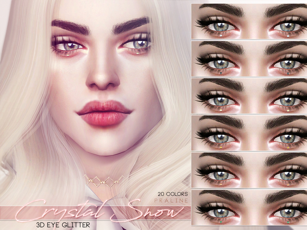 Crystal Snow ~ 3D Eye Glitter by Pralinesims