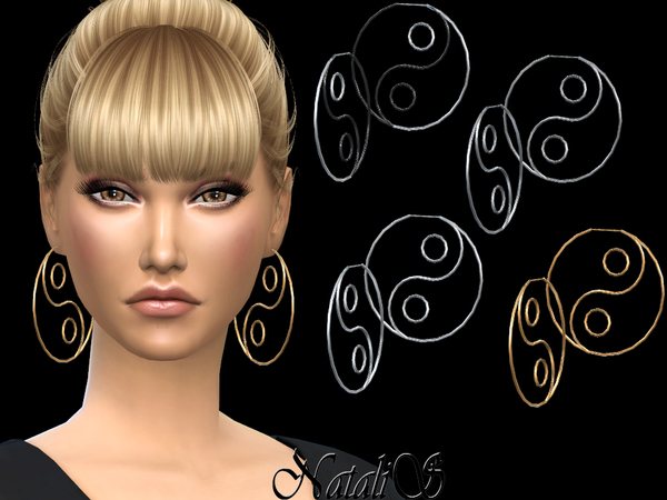 NataliS_Yin Yang Hoop Earrings