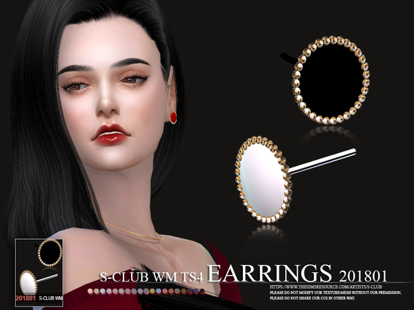 S-Club ts4 WM EARRINGS F 201801