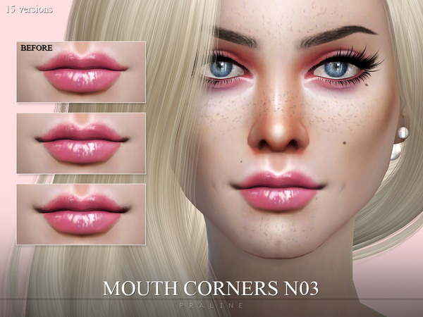 Mouth Corners N03 by Pralinesims
