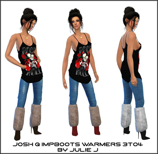 Josh Q Impossible Boots with Warmers 3to4 by Julie J