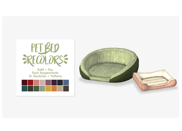 Petbeds recolors by Nolan Sims