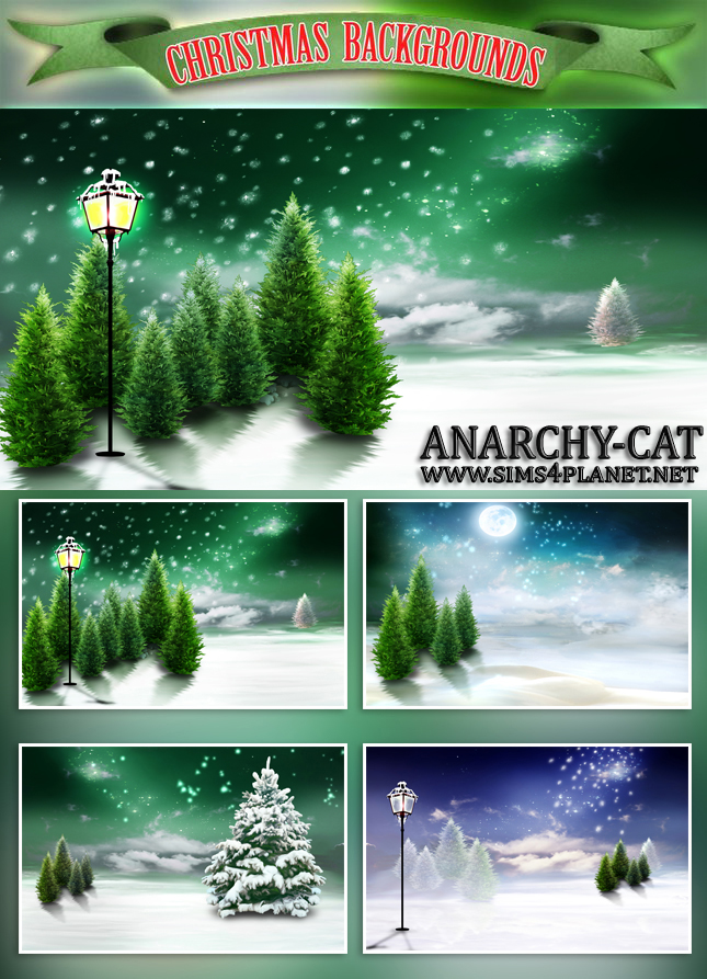 Christmas CAS & Background by Anarchy-Cat