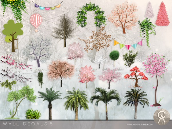 Wall Decals 5 by Pralinesims