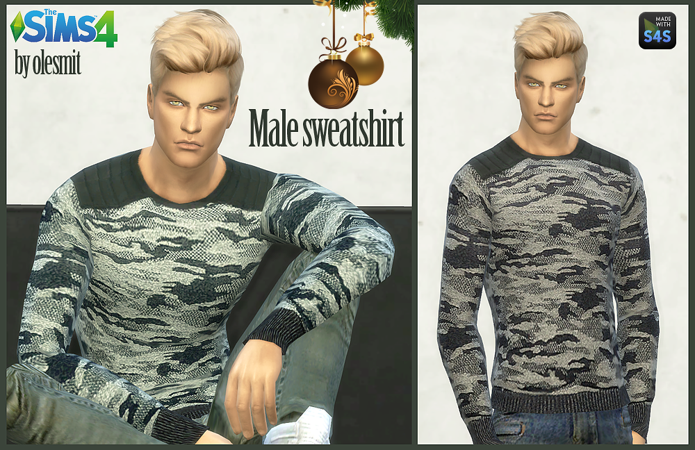 Male sweatshirt and jacket by OleSims