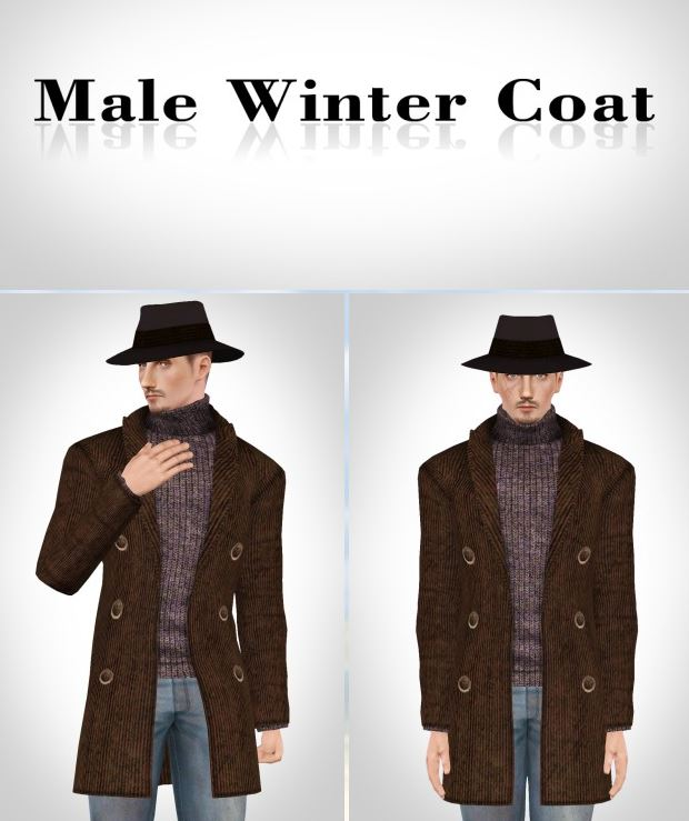 [Lonelyboy] Male Winter Coat by Happylifesims