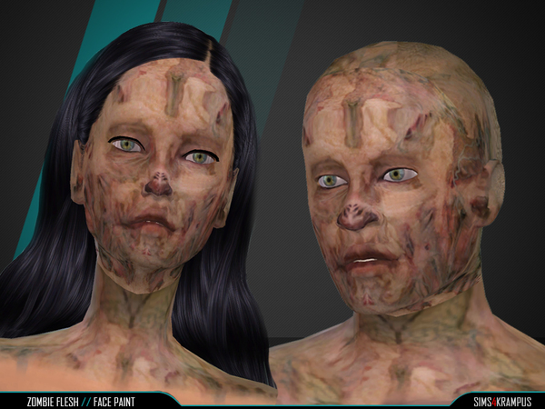 Zombie Flesh Face Paint by SIms4Krampus