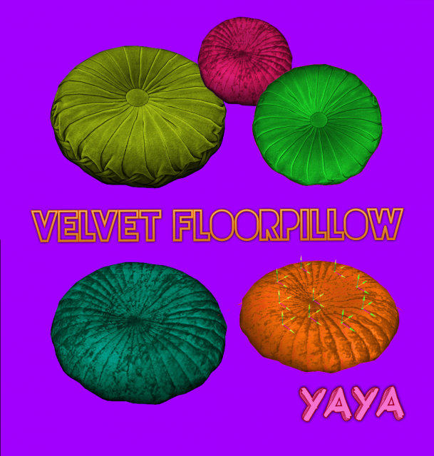 Velvet Floor Pillow by Yayasimblr