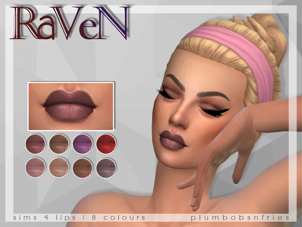 PnF  Raven - Lips by Plumbobs n Fries