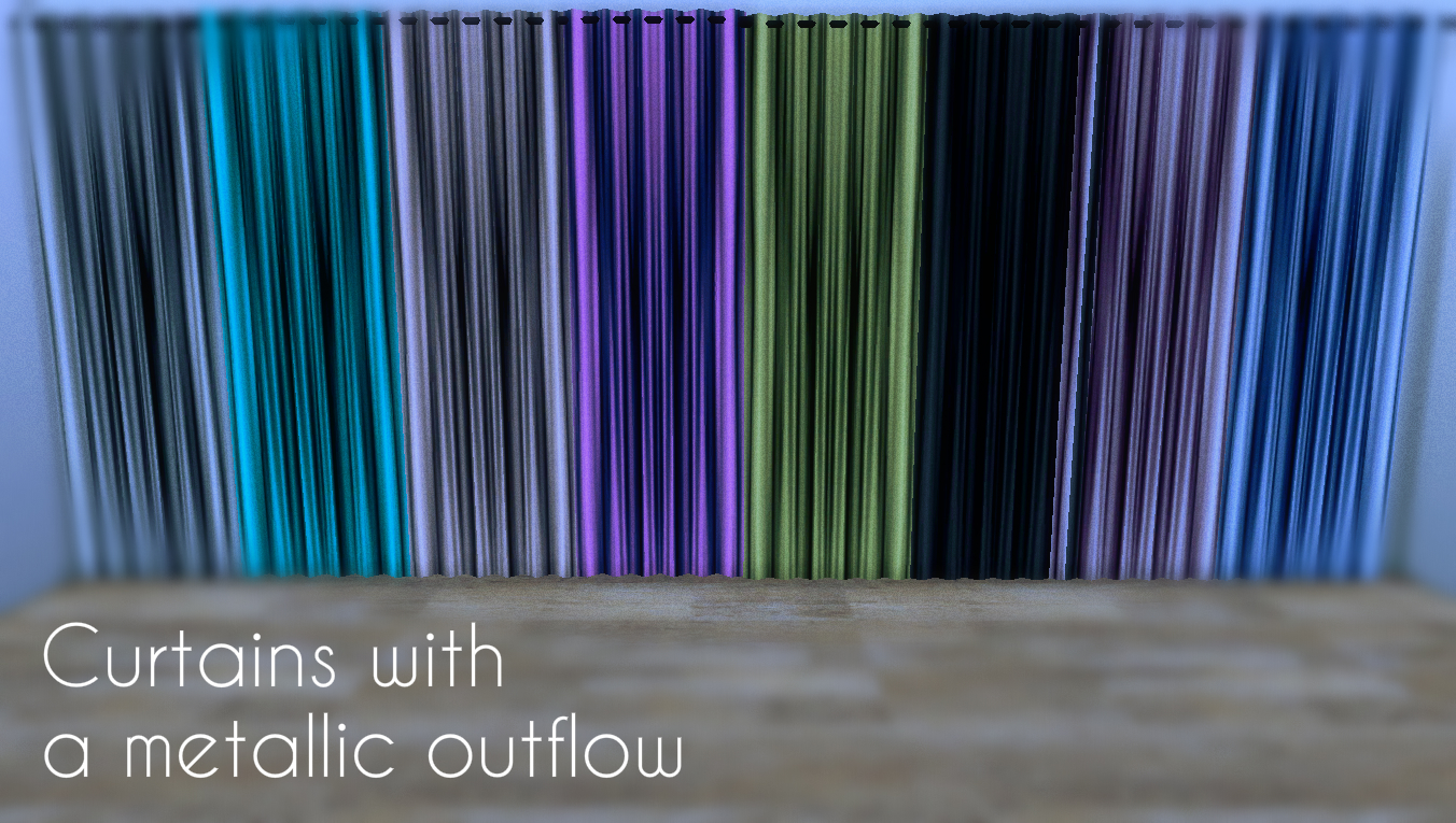 Curtains with a metallic outflow by Lafleur