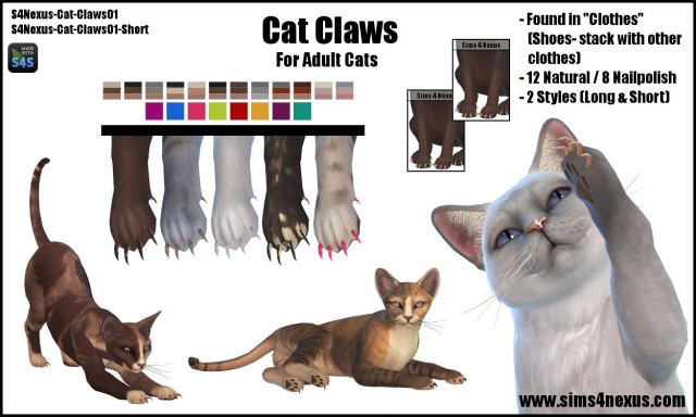 Cat Claws by Sims4Nexus
