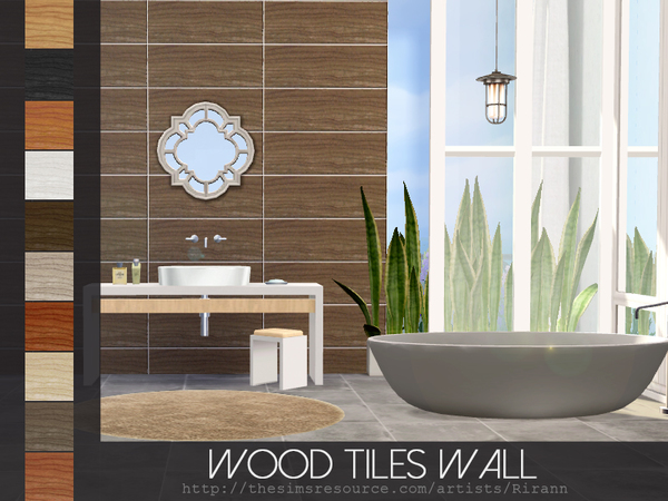 Wood Tiles Wall by Rirann