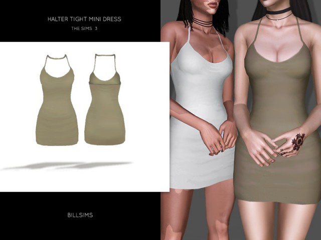 Halter Tight Mini Dress by Bill Sims