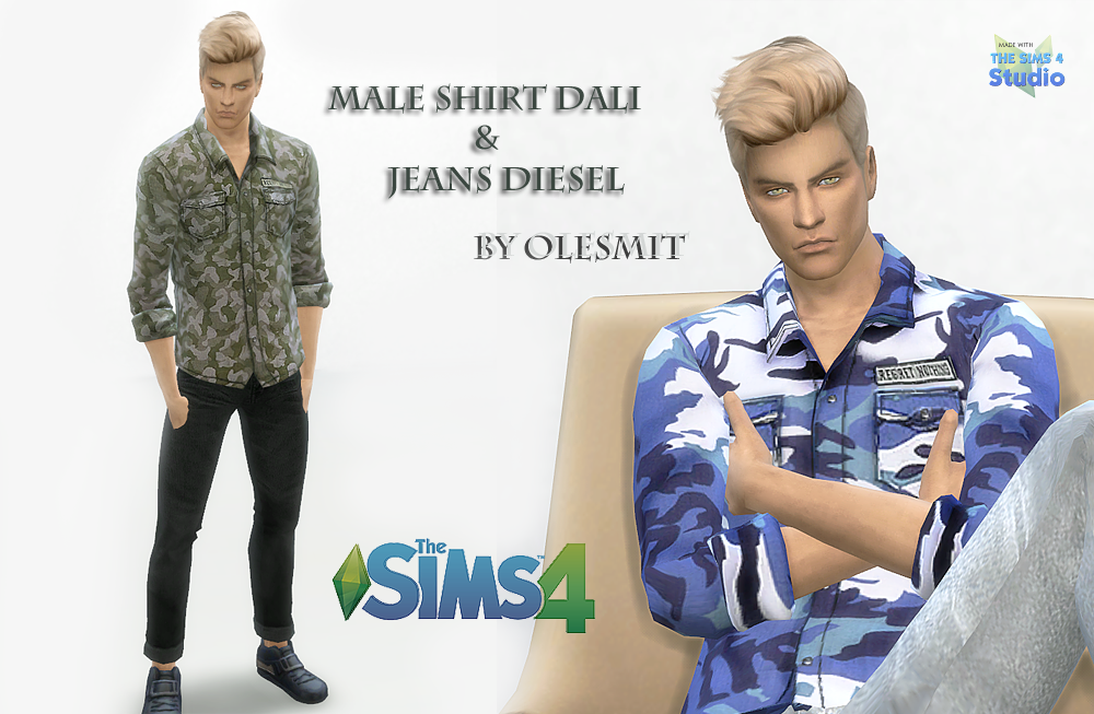 Male shirt and jeans by OleSims