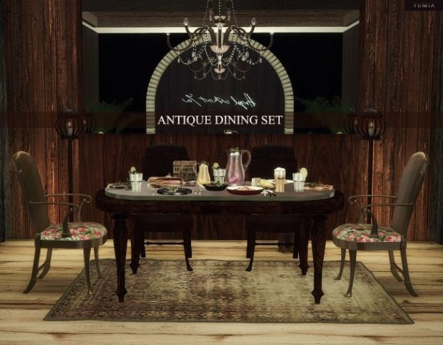 Antique Dining Set (11 items included) by YUMIA