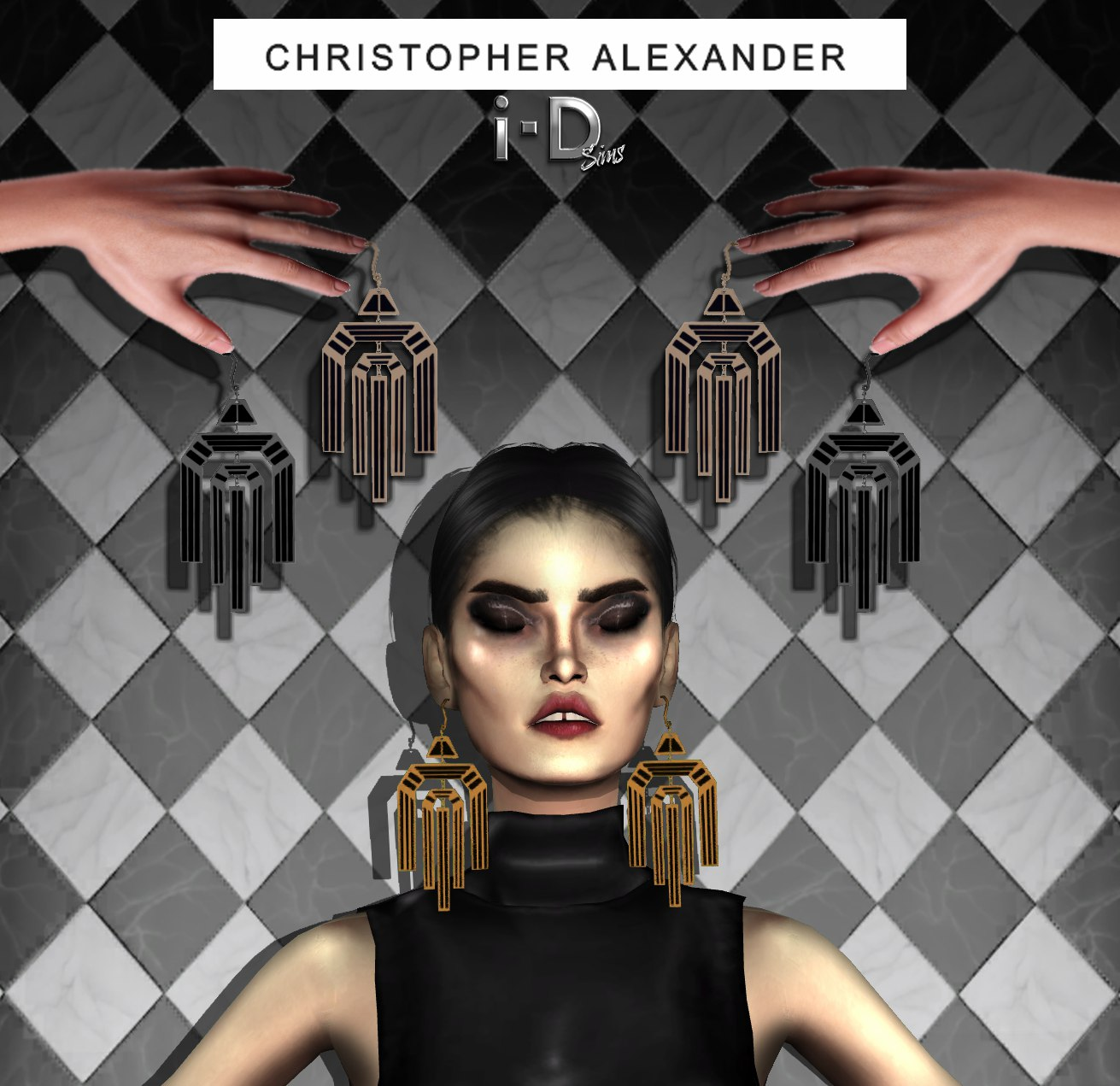 Decog Earrings Christopher Alexander by I-dsims