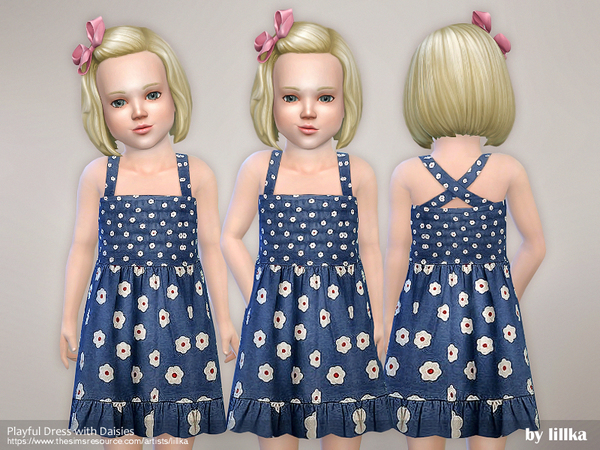 Playful Dress with Daisies by lillka