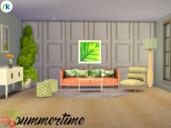 Summertime Living Room by nikadema