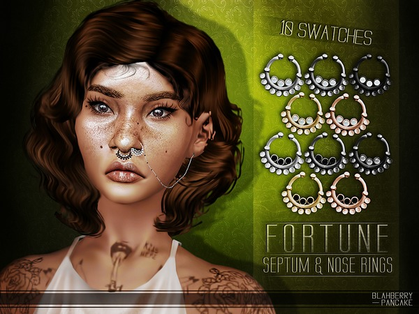Fortune Septum & Nose Rings by Blahberry Pancake