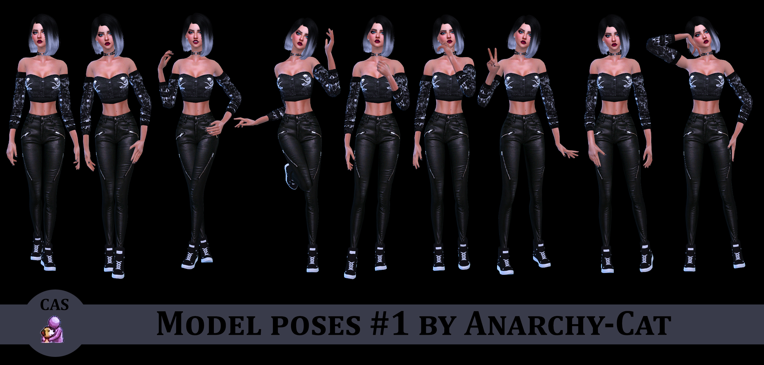 Model poses #1 by Anarchy-Cat