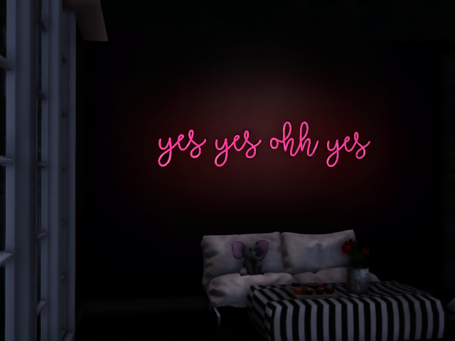 Yes Wall Light by Tallsimmer