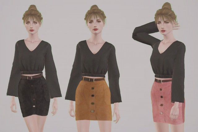Skirts with Belts by thewaysofthesims