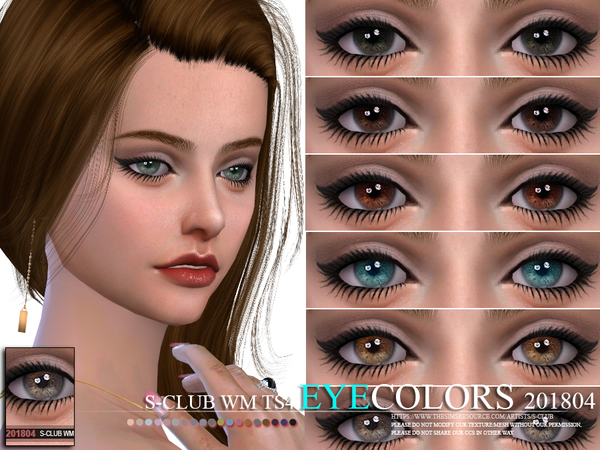 S-Club WM ts4 Eyecolors 201804