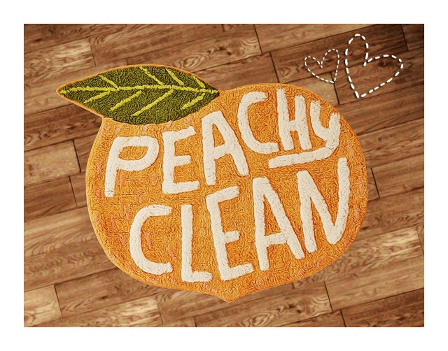 Peachy Clean Bath Mat by Halosims