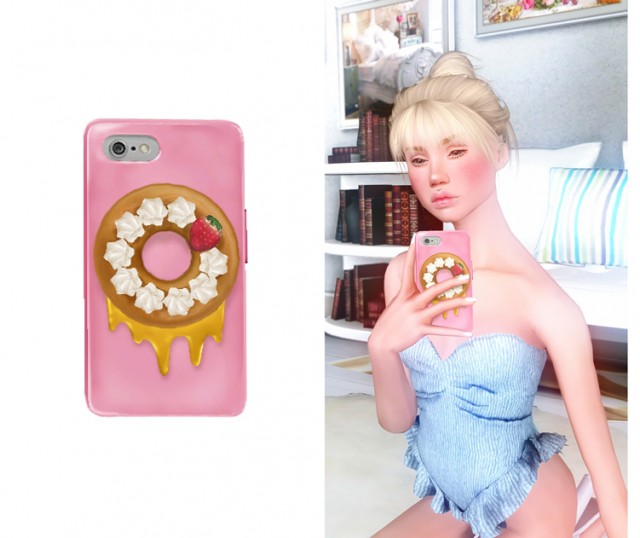Strawberry Doughnut IPhone by minty-cayoo