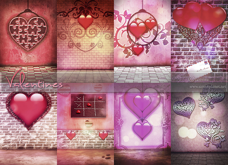 Valentines Backgrounds by lorelea