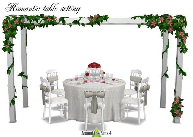 Table setting for wedding or romantic date by Sandy