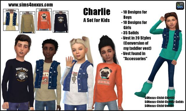 Charlie Set For Kids by sims4nexus