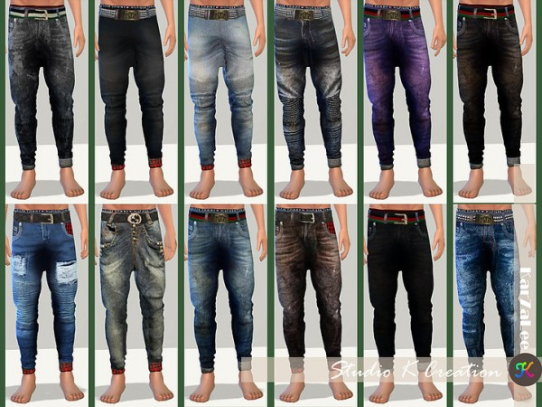 Giruto 48 Roll Up Jeans by Studio K Creation