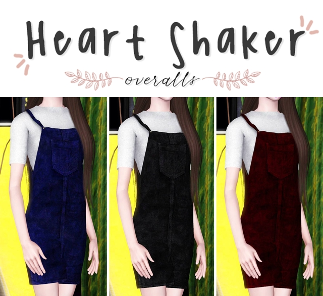 Heart Shaker Overalls by Plbsims