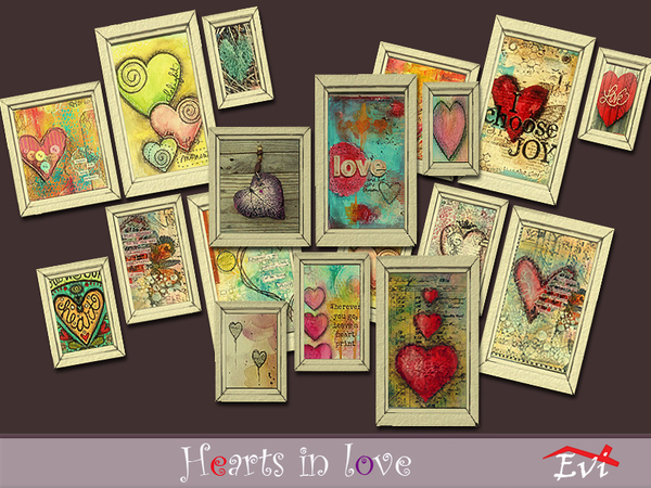 Hearts in Love by evi