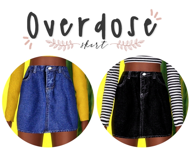 Heart Overdise Skirt by Plbsims