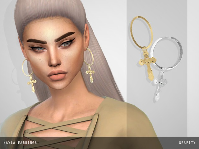 NAYLA EARRINGS by ArthurLumiereCC
