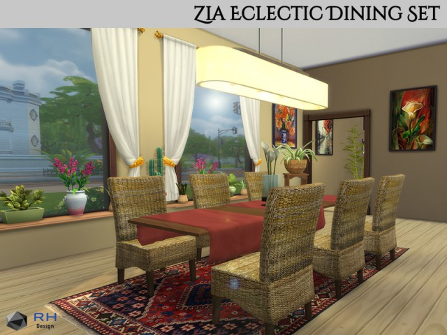 Zia Eclectic Dining Set by RightHearted