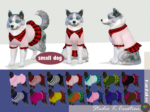 Small dog dress N1 by Studio K Creation