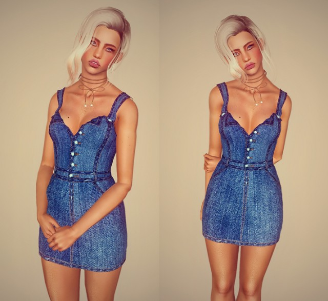 Retro A denim dress for your ladies by Mimisapje