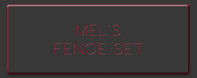 Mels Fence Set by Mspoodle1