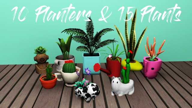 Plants and Planters by owly-sims