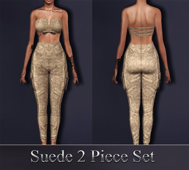 Suede 2 Piece Set by SantosFashion